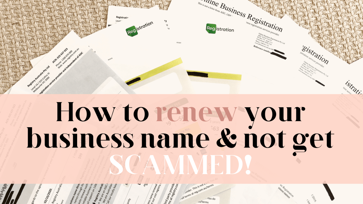 How to renew your business name and not get scammed!